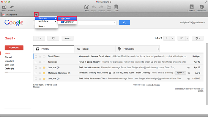 Now you can use your gmail google apps or calendar accounts at the