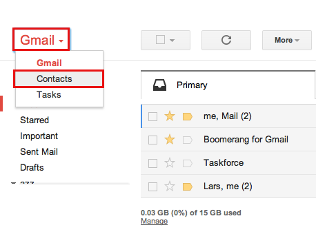 Mailplane - Export Gmail Contacts