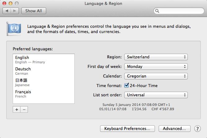 Mailplane - Change Mailplane's language