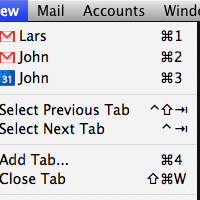 Cycle through tabs