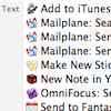 Service Menu & Mail PDF to Mailplane