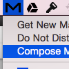 Compose Message via Menu Bar